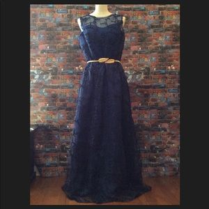 Custom made formal gown Size 14, navy